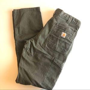 Carhartt Khaki Green Relax Fit Cargo Pants 34 x 34